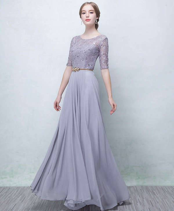 summer long maxi gray dress