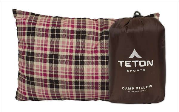 teton sports camp pillow and case