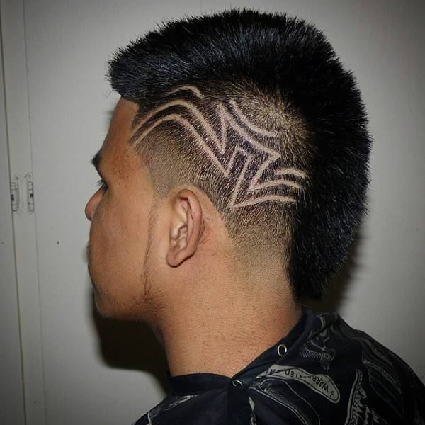taper mohawk haircut design