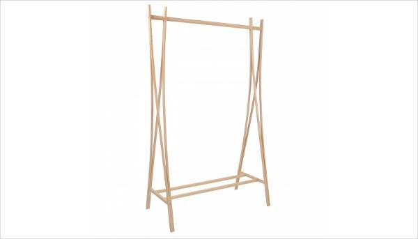 tra ra natural beech clothes rail