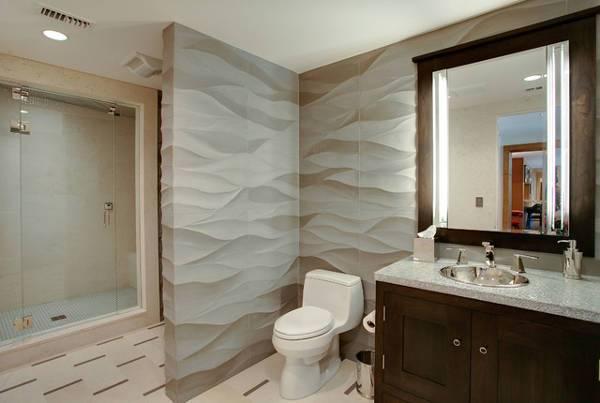 Traditional Bathroom 3D Wall Panel