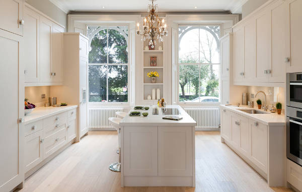 Traditional Kitchen Window Design
