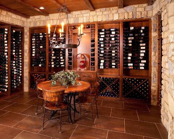 Traditional Wood Wine Cellar