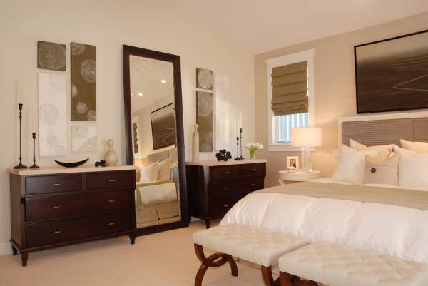 Transitional Bedroom Floor Mirror
