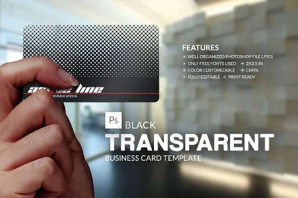 Transparent Black Business Card