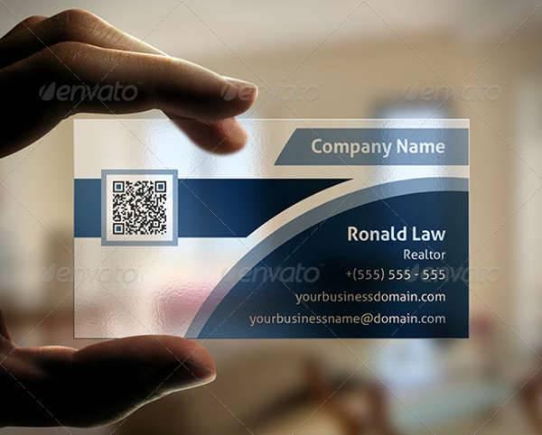 Transparent Real Estate Business Card