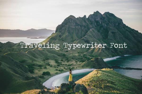 travelling typewriter font download
