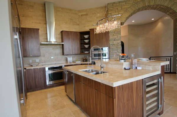 travertine kitchen countertop idea