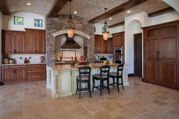 travertine kitchen floor idea