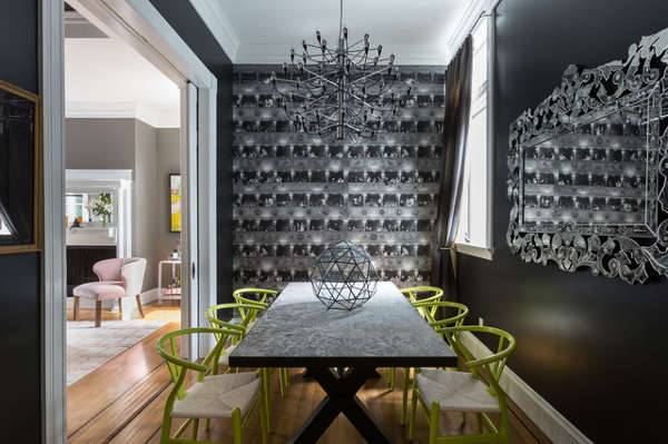 trendy mirror masculine dining