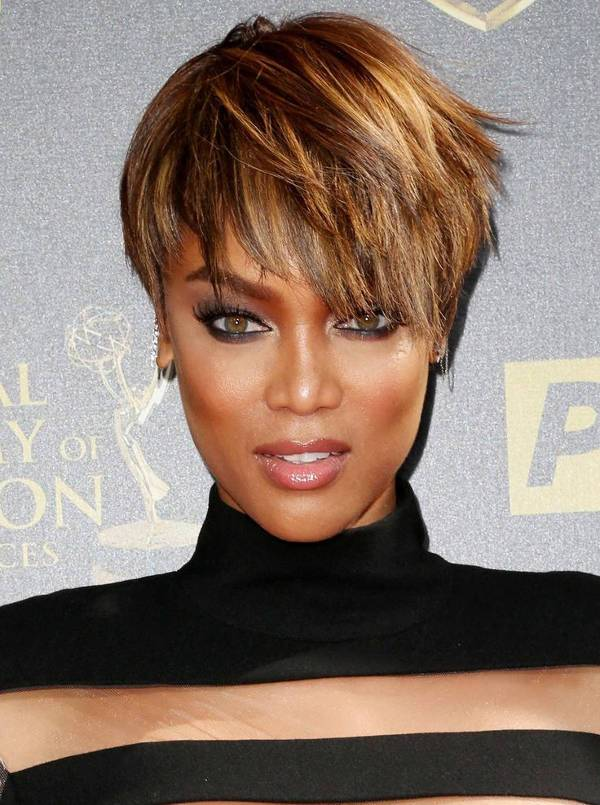 Tyra Banks Short Straight Hairstyles For Black Women