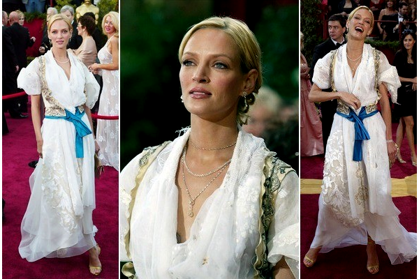 uma thurman in christian lacroix 2004