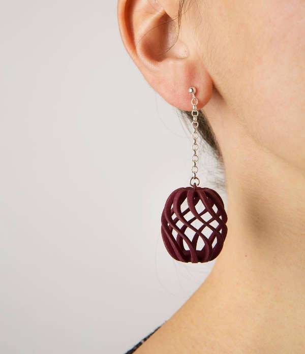 unique pineapple shape earrings
