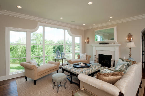Victorian Living Room Window Design