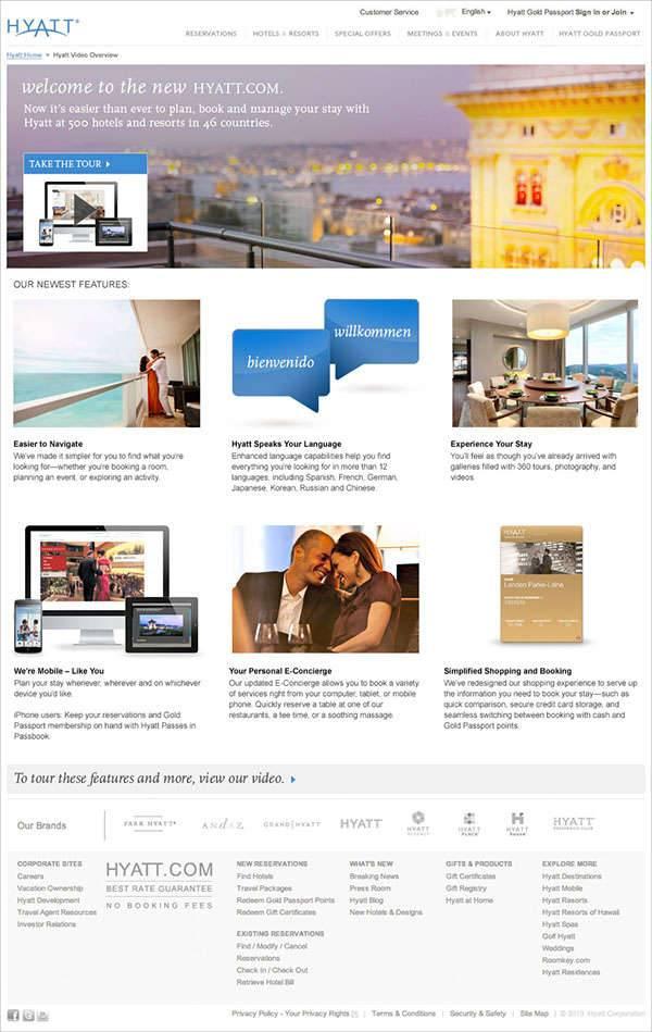 video landing page design