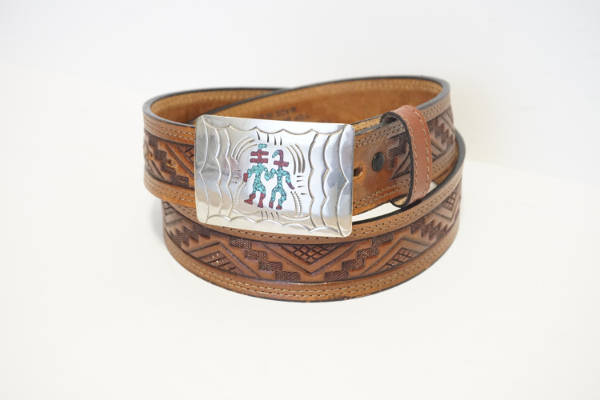Vintage Men's Aztec Belt Design