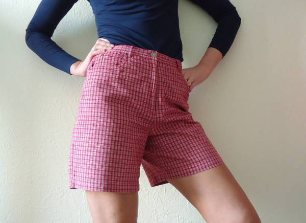 Vintage Plaid Short for Women
