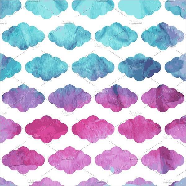 watercolor cloud patterns