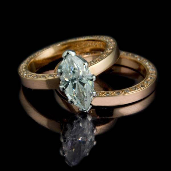 wedding marquise diamond ring
