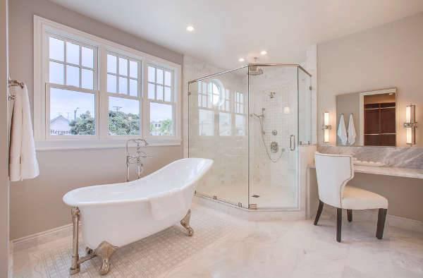 White Bathroom Vanity Desk