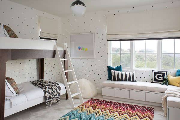 white contemporary kids bedroom furniture