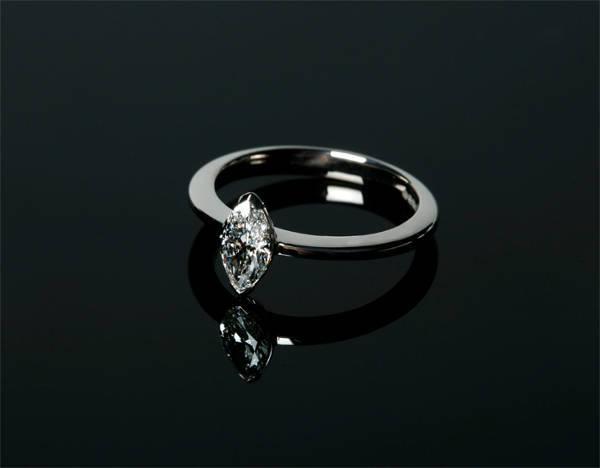 white marquise diamond ring
