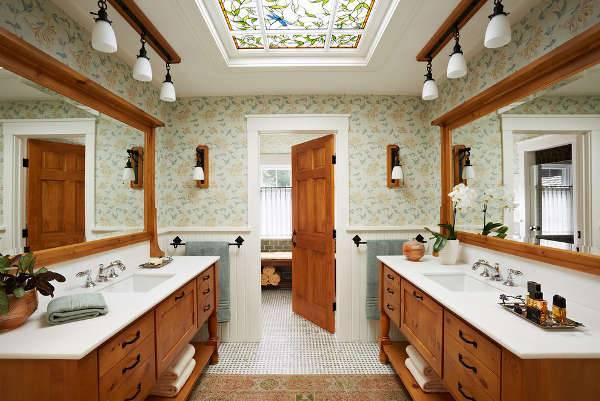 White Modern Wood Bathroom Vanity