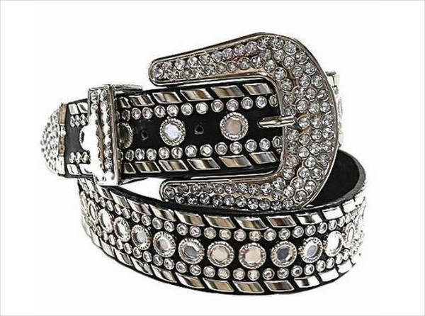 womens sparkly rhinestone belt