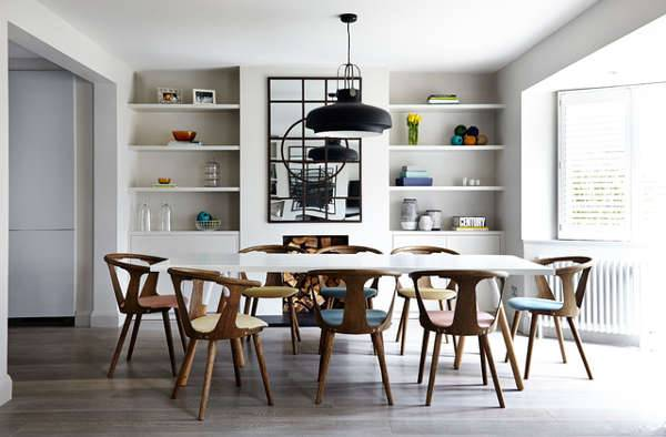 wood chair masculine dining area