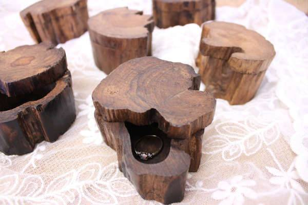 Wooden Engagement Ring Box