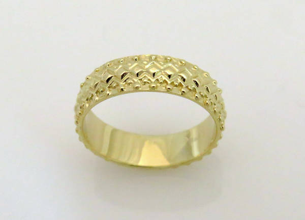 Yellow Gold Wedding Ring for Men