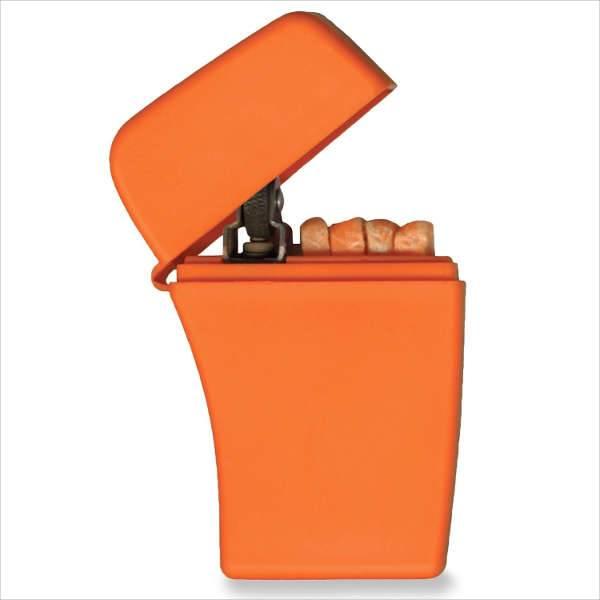 zippo emergency fire starter orange plastic