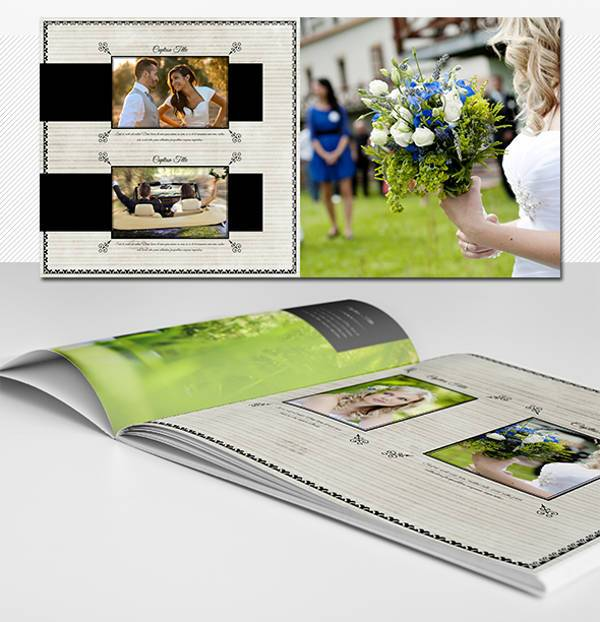 20 pages square wedding photo album
