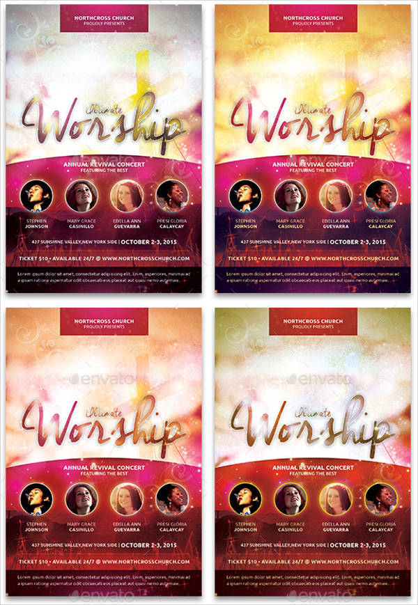 3 in 1 Church Event Flyer