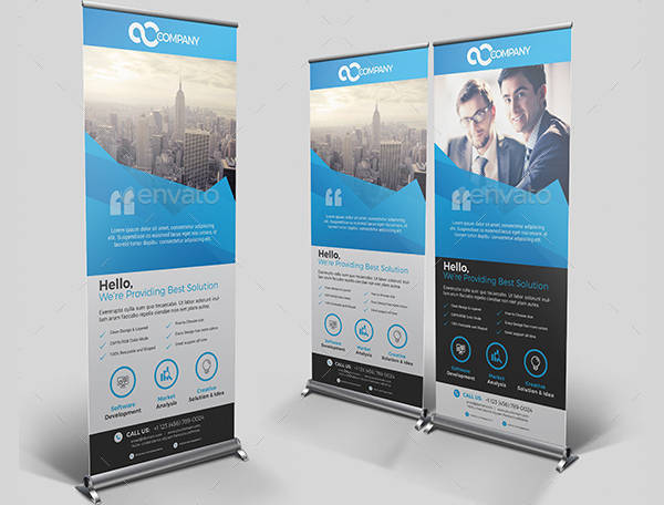 3 in 1 Corporate Rollup Banner