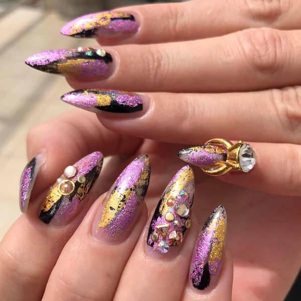 3d Pointy Nail Art Design