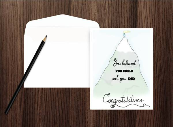 5x7 Graduation Greeting Card