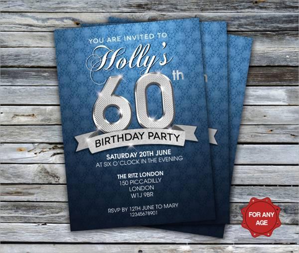 60th Birthday Party Flyer