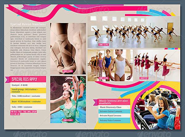 8 Pages Dance School Brochure