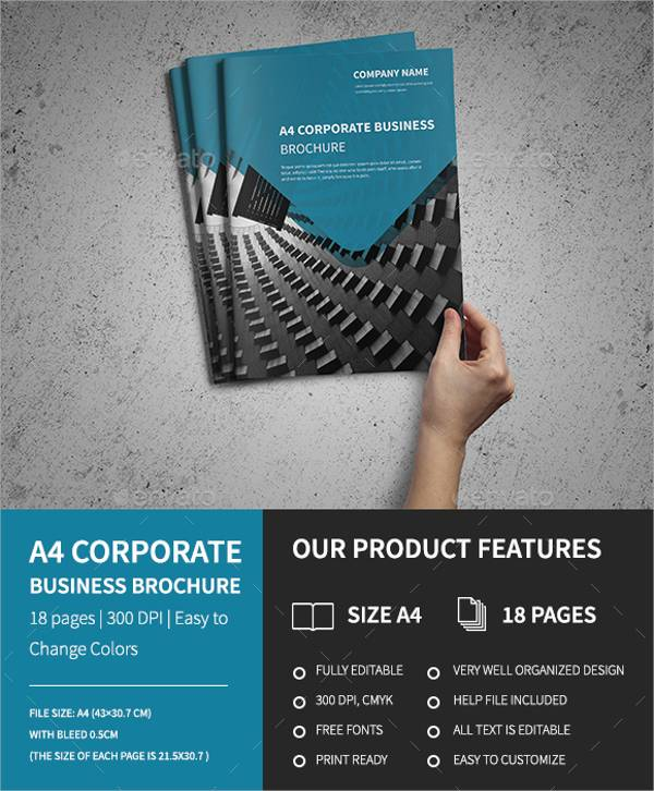 A4 Corporate Business Brochure