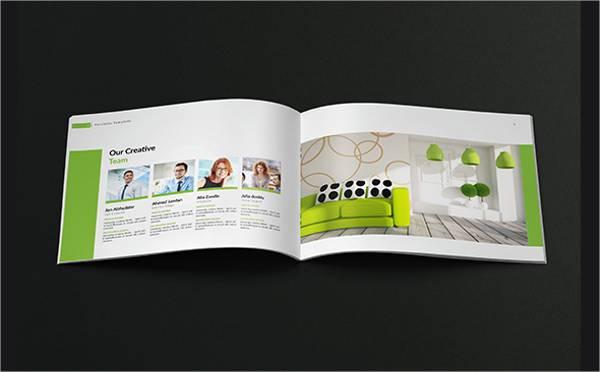 A4 Landscape Company Portfolio Brochure