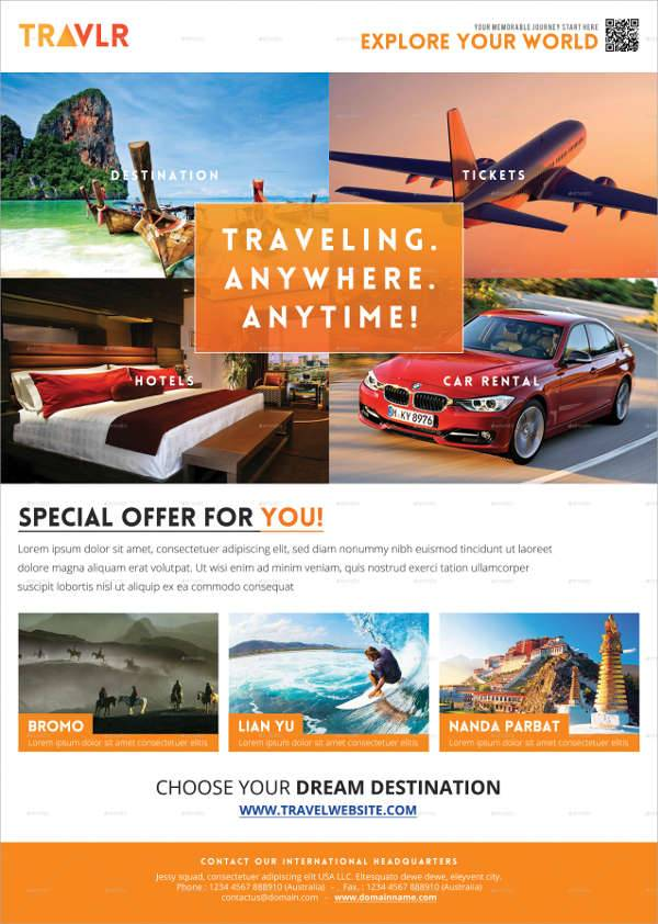 A4 Travel Flyer Template