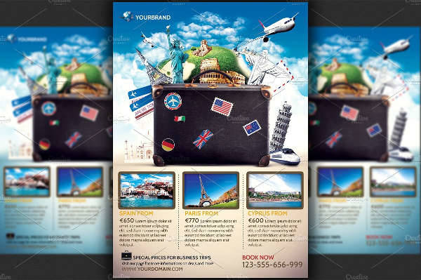 A4 Travel Promotional Flyer
