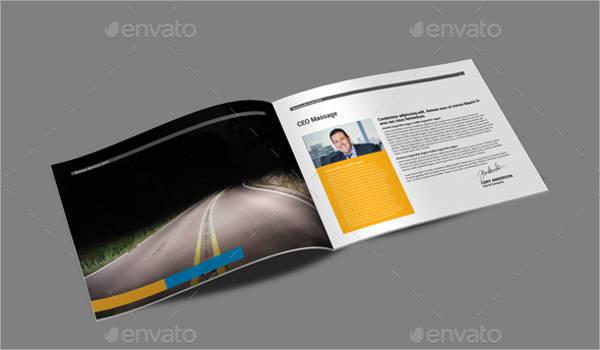 A5 Landscape Company Profile Brochure