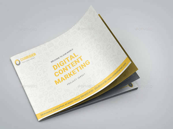 A5 Landscape Content Marketing Brochure