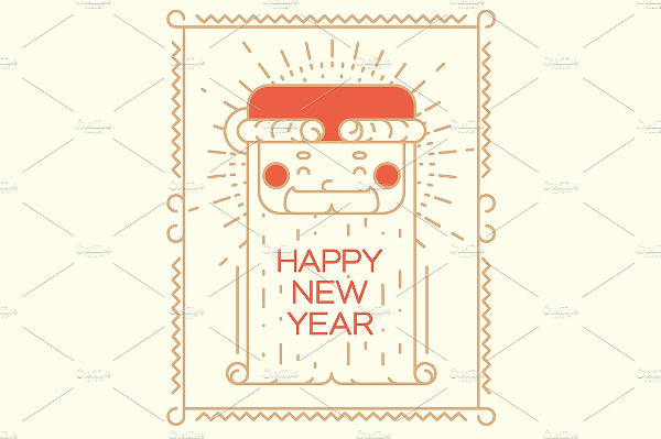 Abstract New Year Greeting Card