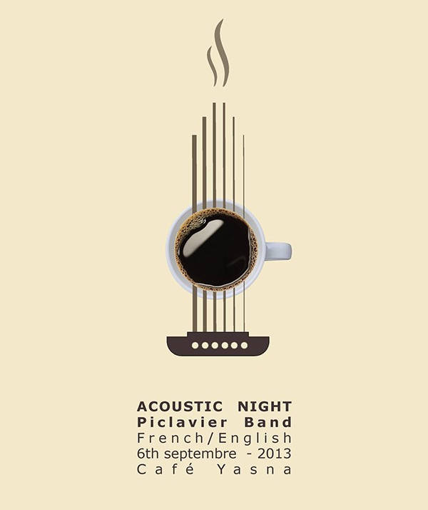 acoustic musical event poster