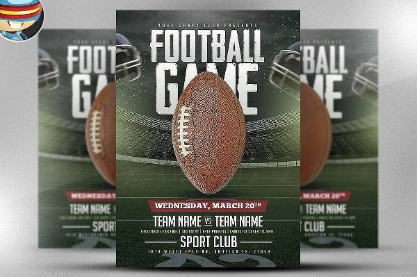 American Football Game Sports Flyer