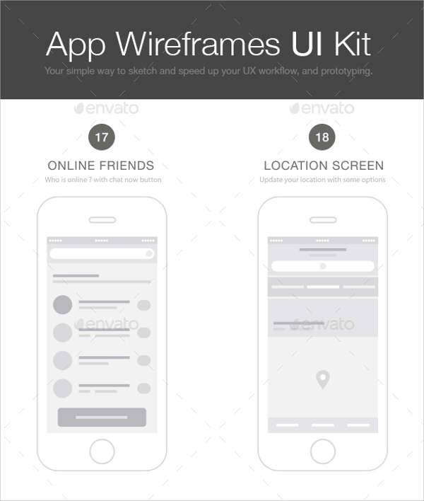 app wireframe ui kit