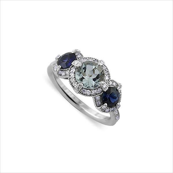 aquamarine sapphire engagement ring